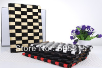 Crazy Horse Fur Skin PU Leather Stand Case for iPad 4 3 2 Smart Cover plaid fashion pattern free DHL/Fedex 10pcs/lot