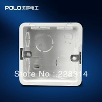 Free Shipping, Polo Wall Switch Bottom Socket, 86 cassette, Universal Switch White Back Box for 86*86mm switch and socket