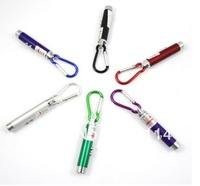 New Mini 3 in 1 pen,Multiple colors UV Light+ red laser pointer+LED Flashlight Laser with Climbing Hook--Black