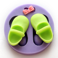 3D shoes style mould silica gel sugar mould diy chocolate silicone  mould Baking & Pastry Tools