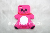 Cute Miss Panda Shape Soft Silicone Case for iPhone 5