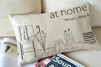 """Kim Store! at home Throw Pillow for Sofa,Car Seat Cushion, Decorative Pillows Lumbar Pad 11""""*19"""" (with filler)"""