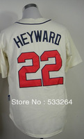 Hot Promotion!Cheap,#22 Jason Heyward Beige Men's  Baseball jerseys Sale,Embroidery sewing labels,Free shipping