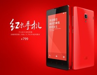 2013 Original XIAOMI Red Rice Hongmi Quad Core 1.5Ghz Mobile Phones 1GB+4GB 4.7 inch IPS Dual SIM Support 32G Card free shipping