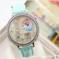 Free shipping+South Korea Mini World Foreign Trade Quality CZ Diamond Women's Fashion Watches