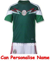 Mexico Kids Jersey 2014 world cup kit, Mexico Kid's Jersey uniform, Mexico Boys girls jersey, Mexico national team boy shirt