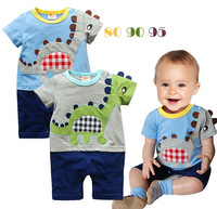 new 2013 cartoon romper baby rompers summer Boys Dinosaur style short-sleeved Romper Siamese Wholesale