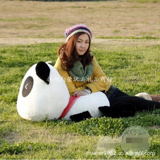 100cm-High quality hot sale Panda plush toy doll stuffed toy doll gift giant panda stuffed animal free shipping(China (Mainland))
