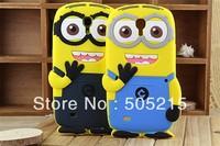Free Shipping despicable me minions 3D cartoon case for Samsung Galaxy Mega 6.3 i9200 silicone soft back cute skin X 1