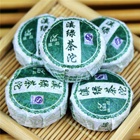 Free Shipping 100 10 premium ancident trees green tea leaf green mini tuo tea new arrival
