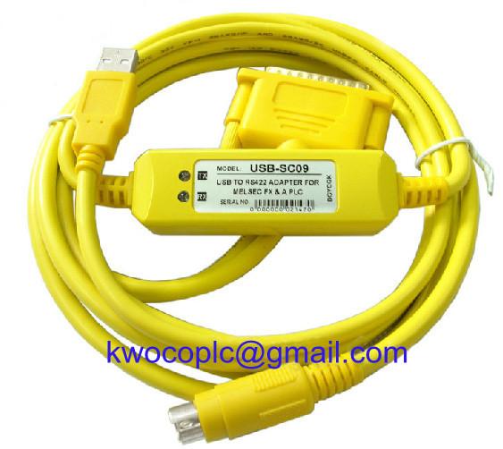USB-SC-09 Mitsubishi PLC Programming Cable free ship(China (Mainland))