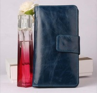 Fashion Casual Genuine Leather Oil Wax Leather Cowhide Women Long Bifold Wallet Wallets Purse Card Holder For Women H2003
