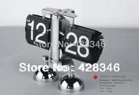 1pc Free Shipping Home Decoration Internal Retro Flip Down Clock Retro Digital Gear Operated desk Clock  CWK001