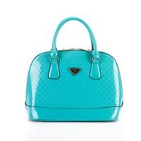FREE SHIPPING! 2013 hotsale high-shine PU women leather handbag colorful shoulder bag Shell package women messenger bag handbag