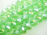 6x8mm 70pcs Green Colorful AB+ Crystal Faceted Beads GSLA8mm18