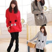 Girls Cute Bigs Eyes Little Cat Animal Pocket Hoodie Sweatshirt Coat Outerwear   76955-76958