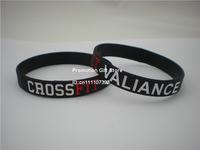 CrossFit Valiance Wristband, Debossed Silicon Bracelet, Adult, Black, 100PCS/Lot, Free Shipping