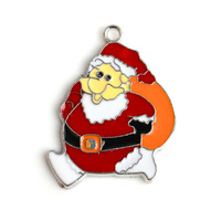 Small Santa Claus Alloy pendant jewelry accessories beautiful on Christmas day gifts10pcs/lot ,PT-839*10