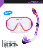 Free Shipping  very cool the best Snorkeling set Diving Mask + Dry Snorkel Set for kid children YM247+YS07