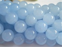 "accessories Hot 6mm Brazilian Aquamarine Round Loose Bead 15"" q46"