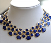 Min Order $15(Can Mix Item)Chunky Chains Statement Choker Necklaces Fashion Lucite Alloy Collars For Women