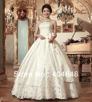Wedding dress Hollow iron flower Princess Floor-Length Bandage type Her bra sweet girl free shipping