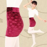 Gold velvet carved short skirt skull short skirt fashion all-match elastic slim hip a