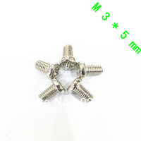 Free Shipping  200 pcs M3 Screw Diameter 3mm Length 5mm M3x5 Stainless Steel DIY New