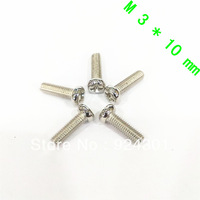 Free Shipping 100 pcs M3 Screw Diameter 3mm Length 10mm M3x10 Stainless Steel DIY New