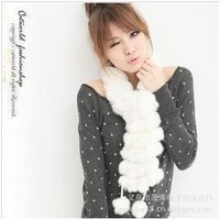 6pcs/lot, 2013 New! High Quality Fur scarf Rabbit Hair scaves, wholesale, WJ008