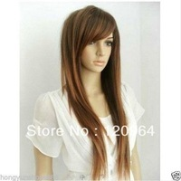 Hot Sell New Sexy Long Straight Light brown Women's Cosplay Hair Wig/Wigs