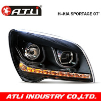 Free shipping LED headlamp kia sportage 07 headlight assembly angel eyes light