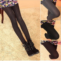 Warm Thick Lady Fashion Girl Elastic Fleece Lined Tights Legging Pants Trousers Stretch Skinny Footless Winter Brushed F01296