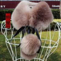 Faux fox fur cape collar faux scarf sphere muffler scarf
