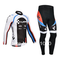Free shipping!2013 CUBE team winter cycling wear/long sleeve thermal fleece cycling jersey and pants set/bicycle clothes