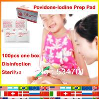 HOT 10% povidone-iodine solution Emergency travel home clean sterilization disinfectant Povidone-lodine Prep Pad 100pcs one box