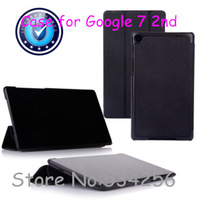 New Ultra-thin Flip PU Leather Stand Case for Google Nexus 7 2nd Generation with Wake&Sleep Free Shipping