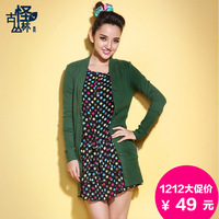 sale 2013 autumn women's slim medium-long air conditioning cardigan shirt