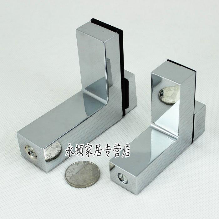 2pcs/lot Small Size Zinc Alloy Adjustable Glass Shelf or Wood Shelf Bracket ,Shinning Color(China (Mainland))