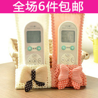 Remote control cover bow lace cloth air conditioning units remote control protective case