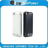 Brand new power case charger 2000mAh external power backup battery charger case For iPhone 5