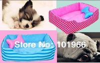 Free Shipping New Washable Pet Nest Kennel Fashion Stripes/Spots Style  Dog House Dog Bed Dropshipping