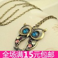 4035 fashion accessories vintage cutout carved owl necklace