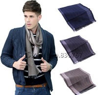 2013New Fashion Cotton Men's Scarf/Shawl/Wrap,Casual Warm Stripe Cashmere Wool Man Business Scarf Suit Spring Autumn Winter