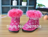 2013 New Hot Sell Noctilucent Waterproof Warm Winter Child Cotton Snow Boots For Girls