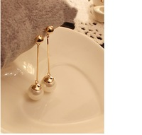 free shipping Fashion korea stely Long pearl earrings for women  wholesale