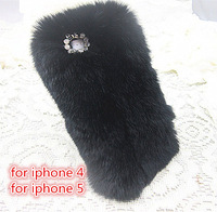 10 pcs /lot  new arrival with free shipping the rabbit wool+PC case for iphone 5 for iphone 4 for iphone 4S 4 color