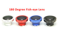 1pcs portable Detachable Fisheye lens maganetic fish eye Lens for iPhone 4 for iPhone 5 iPod Nano 4G iPad samsung 4 colors