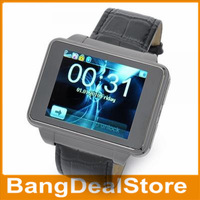 "1.8"" Touch Screen GSM Quad Band Unlocked Bluetooth 0.3MP S9130 Watch Phone"