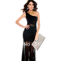 Brief Women's Fashion casual dresses  women dance party pub evening long dress sleeveless